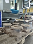Врезное седло ДУ 150 на участке мехобработки
