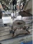 Врезное седло ДУ 150 в процессе обработки фланца