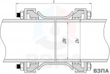 Схема соединения труб с помощью ДРК